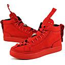 זול טבעות לגברים-בגדי ריקוד גברים Fashion Boots סינטתי אביב / קיץ / סתיו נוחות / מגפי אופנוענים נעלי ספורט שחור / אדום