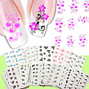 povoljno Vodene naljepnice za nokte-50PCS 3D Nail Naljepnice Nakit za nokte nail art Manikura Pedikura Punk / Moda Dnevno / PVC / 3D naljepnice za nokte