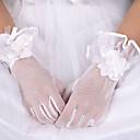 billige Bryllupsslør-Elastisk satin / Bomuld / Silke Håndledslængde Handske Vedhæng / Stilfuld / Brudehandsker Med Broderi / Solid