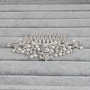 cheap Party Headpieces-Rhinestone Hair Combs with Flower 1pc Wedding / Special Occasion / Casual Headpiece