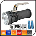 cheap Flashlights & Camping Lanterns-LED Flashlights / Torch LED 1000lm 3 Mode with Batteries and Charger Zoomable / Impact Resistant / Rechargeable Camping / Hiking / Caving