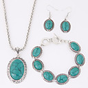 cheap Jewelry Sets-Women's Turquoise Jewelry Set - Resin, Turquoise Luxury, European Include Red / Blue For Party / Daily / Casual / Earrings / Necklace / Bracelets & Bangles