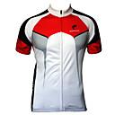 זול חולצות רכיבת אופניים-JESOCYCLING בגדי ריקוד גברים שרוולים קצרים חולצת ג'רסי לרכיבה שחור / אדום לבן + אדום אופנייים ג'רזי צמרות נושם ייבוש מהיר עמיד אולטרה סגול ספורט 100% פוליאסטר ביגוד / סטרצ'י (נמתח)