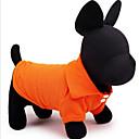 baratos Roupas para Cães-Cachorro Camiseta Roupas para Cães Sólido Amarelo Vermelho Verde Azul Rosa claro Algodão Ocasiões Especiais Para animais de estimação