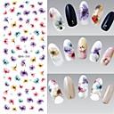 voordelige Watertransfer nagelstickers-1 pcs 3D Nagelstickers Nagelsieraden Water overdracht sticker Nagel kunst Manicure pedicure Bloem / Modieus Dagelijks / PVC / Kynsien korut / 3D-kynsitarrat