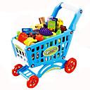 זול מטבחי צעצוע ואוכל צעצוע-מכוניות צעצוע משחקי דמויות צעצוע עגלה צעצועים ירקות עגלת קניות פרי סימולציה פלסטי חתיכות