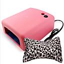 baratos Lâmpadas & Secadores para Unhas-36w UV máquina de terapia de luz da lâmpada prego + travesseiro arte mão 1nail (cor aleatória)