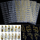 cheap Foil Nail Paper-1pcs 3d gold and silver nail sticking phototherapy nail decals