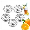 رخيصةأون مستلزمات التنظيف للمطبخ-10PCS الفولاذ المقاوم للصدأ خلاط اللبن بروتين خلاط خلاط الكرة ل شاكر شرب زجاجة كأس