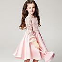 tanie Zestawy ubrań dla dziewczynek-Brzdąc Dla dziewczynek Słodkie Impreza Solidne kolory Długi rękaw Sukienka