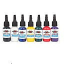 baratos Ferro de Soldagem e Acessórios-DRAGONHAWK Tinta de tatuagem 7 x 5 ml Profissional - Vermelho / Preto / Azul