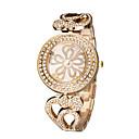ieftine Ceas inel-Pentru femei Ceas de Mână Japoneză Gravură scobită / imitație de diamant Oțel inoxidabil Bandă Elegant / Modă Argint / Auriu / Roz auriu