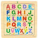 Недорогие Игрушка для обучения чтению-Пазлы Обучающая игрушка деревянный Мультяшная тематика Куски Детские Игрушки Подарок