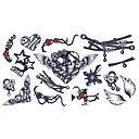 baratos Tatuagens Temporárias-Desenhos Animados / Etiqueta do tatuagem Rosto / Corpo / Mãos Tatuagens temporárias 5 pcs Séries Animal / Série dos desenhos animados Arte para o Corpo