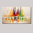 billige Abstrakte Malerier-Hang-Painted Oliemaleri Hånd malede - Abstrakt / Landskab / Sille Liv Moderne Lærred / Stretched Canvas