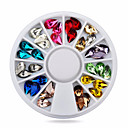 cheap Earrings-1wheel droptear shape 3d nail art decorations