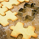 baratos Utensílios para Biscoitos-Ferramentas bakeware Aço Inoxidável Biscoito Desenhos Animados 3D bolo de cortador 1pç