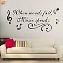 halpa Seinätarrat-Abstrakti Romantiikka Muoti Words & Quotes Fantasy Wall Tarrat Words & Quotes Wall Stickers Koriste-seinätarrat, Vinyyli Kodinsisustus