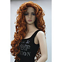 cheap Synthetic Capless Wigs-new fashion hair women s cosplay party wigs copper red long curly bangs full wig