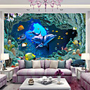 abordables Murales-Estampado Animal 3D Decoración hogareña Moderno Revestimiento de pared, Papel no tejido Material adhesiva requerida Mural, Revestimiento