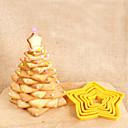 levne Nástroje cookie-Nástroje na pečení Plastický 3D / Tvůrčí kuchyně Gadget / Udělej si sám Dorty / Sušenky / Čokoládová Yıldız Vykrajovátka 6ks