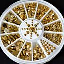cheap Rhinestone & Decorations-fashion wonem new hot sale 5 sizes diy 3d nail art decoration acrylic glitter gold rhinestone