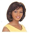 preiswerte Armbänder-Synthetische Perücken Glatt Synthetische Haare 10 Zoll Braun Perücke Damen Mittlerer Länge Kappenlos Braun