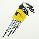 baratos Chaves de Boca-chave sextavada ferramenta rewin® grau polegadas técnica 9pcs definir o aço de liga s2