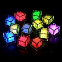 cheap Décor Lights-24pcs Blue / Red / Green / Pink / Yellow / RGB / White  Ice Cubes LED light Party Wedding Christmas Bar Restaurant