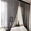 hesapli Karartma Perdeler-Ahşap Korniş Kısmı Tek Panel Pencere Tedavi Ülke, Boyama Oturma Odası Polyester Malzeme Perdeler Perdeler Ev dekorasyonu
