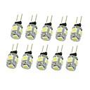 cheap LED Bi-pin Lights-SENCART 10pcs 1.5 W 90-120 lm G4 LED Spotlight T 5 LED Beads SMD 5050 Decorative Warm White / Cold White / Natural White 12 V / 10 pcs