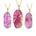 preiswerte Modische Halsketten-Damen Kristall Anhängerketten - Krystall, vergoldet Purpur Modische Halsketten Schmuck 1pc Für Party, Alltag