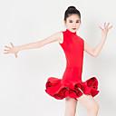 preiswerte Kindertanzkleidung-Tanzkleidung für Kinder Kleider Leistung Polyester Elasthan Rüschen Ärmellos Kleid