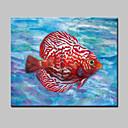tanie Obrazy: motyw zwierzęcy-Hang-Malowane obraz olejny Ręcznie malowane - Pop art Nowoczesny Brezentowy