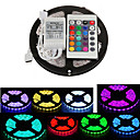 abordables Accesorios LED-5 m Tiras de Luces RGB 300 LED 5050 SMD RGB Control remoto / Cortable / Impermeable 12 V / IP65 / Auto-Adhesivas / Color variable