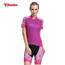 cheap Cycling Jersey & Shorts / Pants Sets-TASDAN Cycling Jersey with Shorts Women's Short Sleeves Bike Shorts Jersey Padded Shorts/Chamois Sleeves Top Clothing Suits Quick Dry