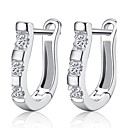 cheap Earrings-Women's Hoop Earrings Birthstones Sterling Silver Silver Jewelry Wedding Party Daily Casual Costume Jewelry