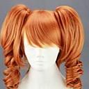 billige Syntetiske parykker uten hette-Syntetiske parykker Dame Krøllet Rød Syntetisk hår Rød Parykk Lokkløs Blond hairjoy