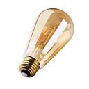 お買い得  LEDフィラメント電球-1個 3W 180 lm E26/E27 フィラメントタイプLED電球 ST64 2 LEDの COB 装飾用 温白色 AC 220-240V