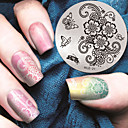 hesapli Tırnak Damgalama-1 pcs Damgalama Plakası şablon Modaya Uygun Takı tırnak sanatı Manikür pedikür Şık / Moda Günlük / damgalama Plaka / Metal
