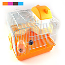 baratos Acessórios para Pequenos Animais-Chinchilas / Hamster Plástico Gaiolas Cinzento / Azul / Rosa claro