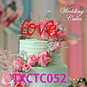 cheap Cake Toppers-Cake Topper Classic Theme Monogram Acrylic Anniversary with 1pcs OPP