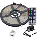 cheap LED Strip Lights-5m Flexible LED Light Strips / Light Sets / RGB Strip Lights LEDs 3528 SMD RGB Remote Control / RC / Cuttable / Dimmable 100-240 V / Linkable / Self-adhesive / Color-Changing / IP44