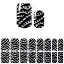 billige Heldækkende negleklistermærker-1 pcs Klistermærker Negle kunst Manicure Pedicure 3D Mode Daglig