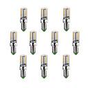 billige LED-lyspærer-10pcs 220-240lm E14 / G9 / G4 LED-kornpærer T 64 LED perler SMD 3014 Varm hvit / Kjølig hvit 220-240V