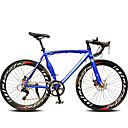 billige Sykler-Landeveissykkel Sykling 14 Trin 26 tommer (ca. 66cm) / 700CC SHIMANO TX30 Dobbel skivebremse Vanlig Helsveiset Vanlig Aluminiumslegering / Stål / #