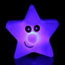abordables Lámparas de Noche-creativo que cambia de color luz de la estrella de acrílico colorido de cinco estrellas llevó la luz de la noche pequeña linterna de la