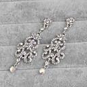 baratos Pulseiras-Mulheres Prata Prata Brincos Compridos - Prateado Para