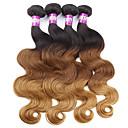 رخيصةأون حزمة شعر واحدة-4 حزم شعر ماليزي هيئة الموج شعر عذراء ظل ينسج شعرة الإنسان شعر إنساني إمتداد