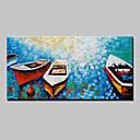 preiswerte Parykopfbedeckungen-mintura® Lager handgemachtes Seebootmesser-Ölgemälde auf Segeltuchwandgemälden für Wohnzimmerausgangsdekor mit Rahmen bereit zu hängen